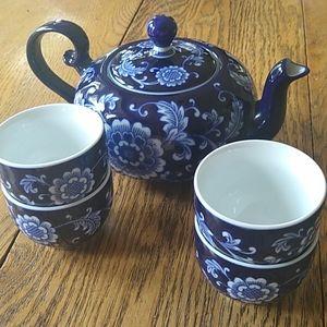 Gorgeous tea set pristine condition Pier 1 Chinese